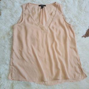 Light Pink Chiffon Tank Top Shirt